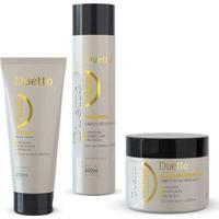 Kit Queratina Duetto 1 Shampoo 300Ml + 1 Máscara 500G +1 Leave -In Tutano 200Ml - Unissex-Incolor