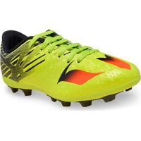 Chuteira Masc Infantil Adidas S74699 Messi 15.4 Fxg Jr Limao/Preto