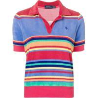 Farfetch  Polo Ralph Lauren Camisa Polo Listrada - Vermelho c0f1c8ed8cd