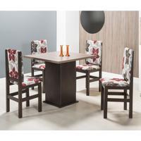 Conjunto De Mesa Com 4 Cadeiras 154/2012 Tabaco