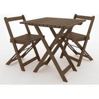 Kit Boteco Mesa Com 2 Cadeiras Cor Stain Nogeuira - 23250 - Sun House