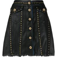 Versace Jeans Couture Saia Com Tachas - Preto