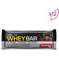 Whey Bar®- Frutas Vermelhas- 12 Unidades- Probióprobiotica