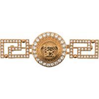 Versace Broche Com Cristais 'Medusa' - Dourado