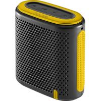 Caixa De Som Pulse Mini Bluetooth/Sd/P2 10W Rms Preta E Amarela - Sp238