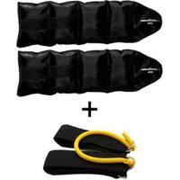 Kit Extensor De Perna + Par De Caneleira 4Kg Natural Fitness - Unissex