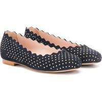 Chloé Kids Studded Ballerina Shoes - Azul