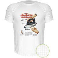 Camiseta Manga Curta Nerderia Ferro Retro Branco