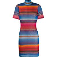 House Of Holland Striped Fitted Mini Dress - Azul