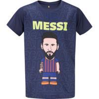 Camiseta Barcelona Messi - Infantil - Azul Escuro