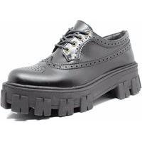 Sapato Oxford Tratorado Estilo Veggie Rolly Preto