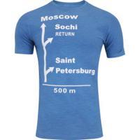 Camiseta Adams À Caminho Da Rússia - Masculina - Azul Escuro