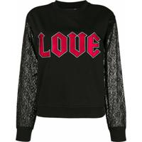 Love Moschino Blusa De Moletom 'Love' - Preto