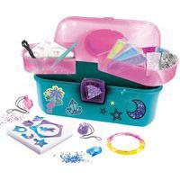Frasqueira De Pulseira Gel Infantil Fun 8619-6 12 Peças Rosa E Azul