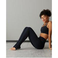 Amaro Feminino Legging Yoga Biodegradável Com Franzido, Preto