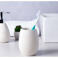 Porta Escova De Dente Para Bancada Bege Loft Coisas E Coisinhas