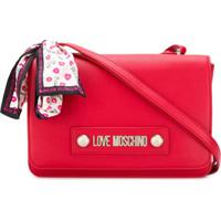 Love Moschino Bolsa Transversal Com Logo - Vermelho