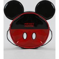 Bolsa Infantil Redonda Mickey Com Orelhas Preta - Único