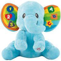 Elefante De Pelúcia Infantil Yes Toys 0695-Nl Dance Comigo Musical Azul