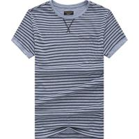 Camiseta Listrada Detail V - Cinza M