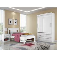 Dormitório Solteiro Click Branco/Fúcsia Santos Andirá
