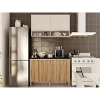Cozinha Com Balcão E Aéreo Essence Branco/Desira - Aroma
