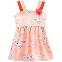 Vestido Floral - Rosa & Coral- Primeiros Passos Mundi