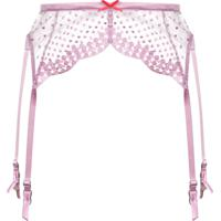 Fleur Du Mal Dotty Garter Belt - Rosa