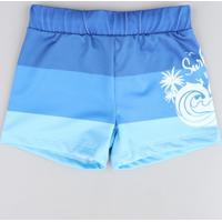 Sunga Boxer Infantil Listrada Azul