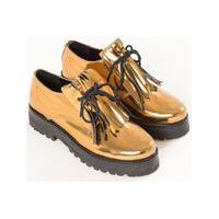 Sapato Oxford Metalizado Cobre