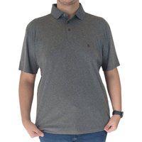 Camiseta Gola Polo Individual Masculina Cinza Pima Cotton