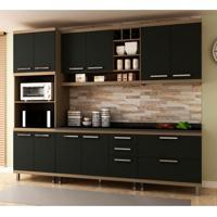 Cozinha Compacta New Vitoria 10 Pt 5 Gv Avelã Com Onix
