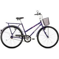 Bicicleta Utilitária Onix Vb Aro 26 Houston Roxo