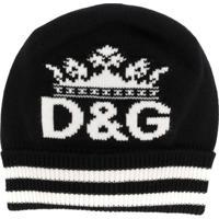 Dolce & Gabbana Gorro De Tricô Com Logo - Preto