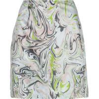 Maisie Wilen Call Me Marble Print Mini Skirt - Verde