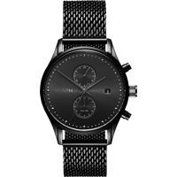 Relógio Mvmt Masculino Aço Preto - D-Mv01-Bl2