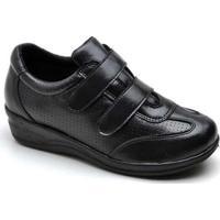 Sapato Conforto Top Franca Shoes Feminino - Feminino-Preto