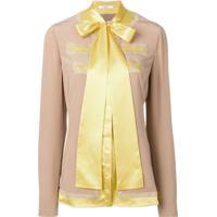 Givenchy Blusa Com Detalhe De Laço - Marrom