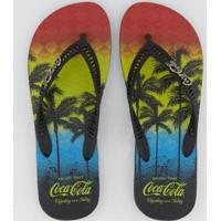 Chinelo Coca Cola Mônica Masculino - Masculino-Preto