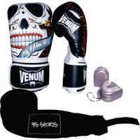Kit Boxe Muaythai Venum Santa Muerte 3.0 14Oz - Unissex