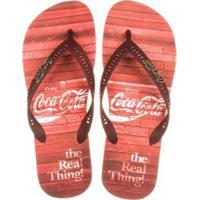 Chinelo Coca Cola Vintage Floor Masculino - Masculino