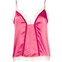 Pinko Blusa Com Acabamento De Renda - Rosa