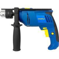 Furadeira De Impacto 700W 110V Azul E Amarela