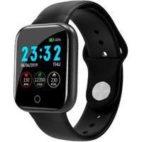 Relógio Smartwatch Red Place Inteligente Notificação Aplicativos Android E Ios - Preto