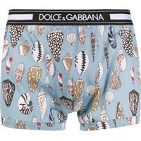 Dolce & Gabbana Cueca Boxer Com Stetch - Azul