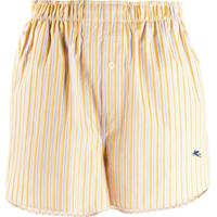 Etro Boxer-Style Striped Shorts - Amarelo