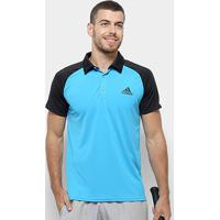 Camiseta Polo Adidas Club Td Masculina - Masculino-Azul+Preto