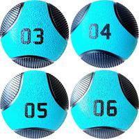 Kit 4 Medicine Ball Liveup Pro 3 5 E 6 Kg Bola De Peso Treino Funcional Lp8112