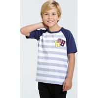 Camiseta Infantil Manga Curta Listrada Marisa