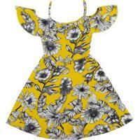 Vestido Juvenil Para Menina - Amarelo